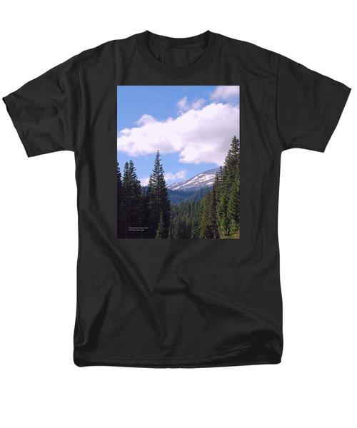 Mount Rainier National Park Men's T-Shirt  (Regular Fit) by Connie Fox