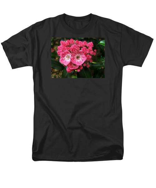 Men's T-Shirt  (Regular Fit) featuring the photograph Mountain Laurel ' Olympic Fire ' by William Tanneberger