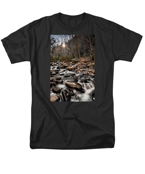 Men's T-Shirt  (Regular Fit) featuring the photograph Icy Mountain Stream by Debbie Green