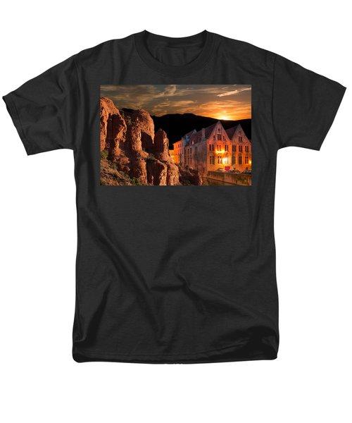 Mountain Sunset Men's T-Shirt  (Regular Fit) by Fred Larson