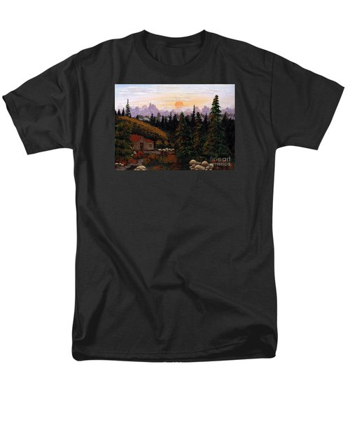 Mountain View Men's T-Shirt  (Regular Fit) by Barbara Griffin