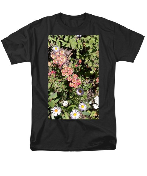 Men's T-Shirt  (Regular Fit) featuring the photograph Mountain Wildflowers by Fortunate Findings Shirley Dickerson