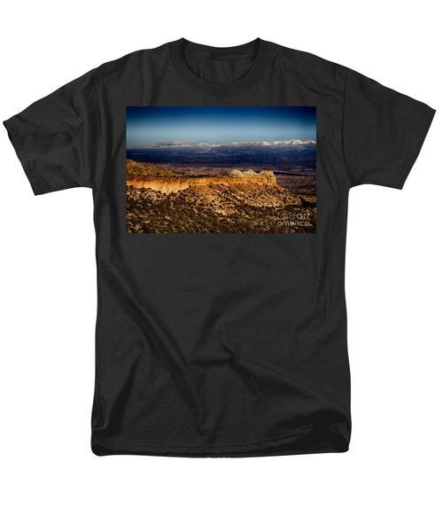 Mountains At Senator Clinton P. Anderson Scenic Route Overlook  Men's T-Shirt  (Regular Fit)