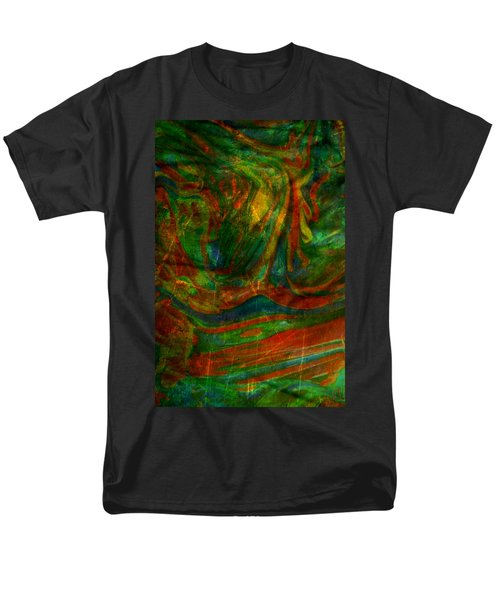 Men's T-Shirt  (Regular Fit) featuring the mixed media Mountains In The Rain by Ally  White