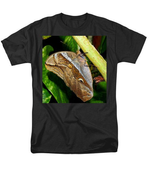 Men's T-Shirt  (Regular Fit) featuring the photograph Mournful Owl Butterfly by Amy McDaniel