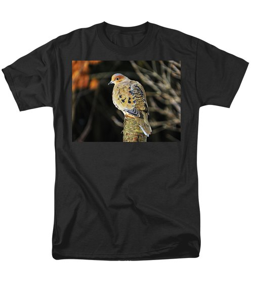 Mourning Dove On Post Men's T-Shirt  (Regular Fit) by MTBobbins Photography