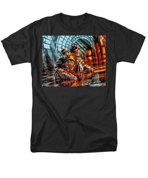 Mr. Bubbles Please Get Up Men's T-Shirt  (Regular Fit) by Joe Misrasi