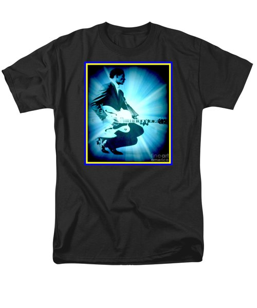 Mr Chuck Berry Blueberry Hill Style Edited Men's T-Shirt  (Regular Fit) by Kelly Awad