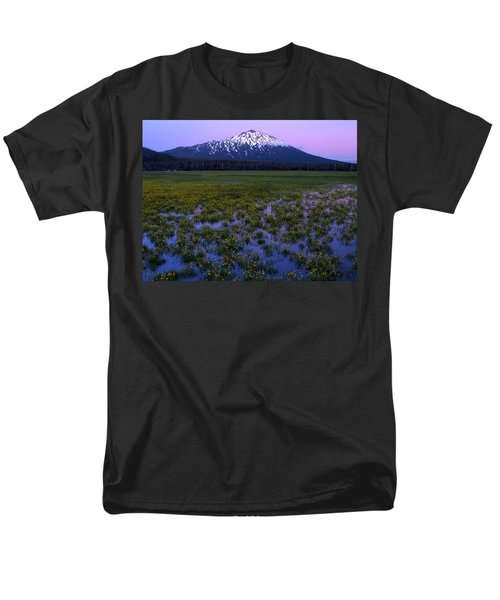 Men's T-Shirt  (Regular Fit) featuring the photograph Mt. Bachelor Twilight by Kevin Desrosiers