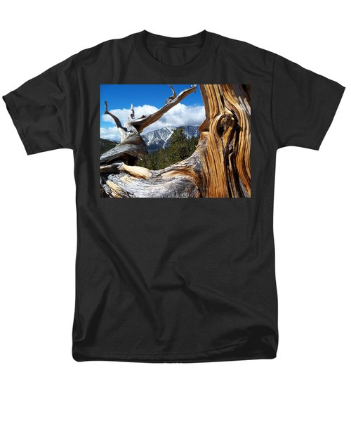 Mt. Charleston Thru A Tree Men's T-Shirt  (Regular Fit) by Alan Socolik