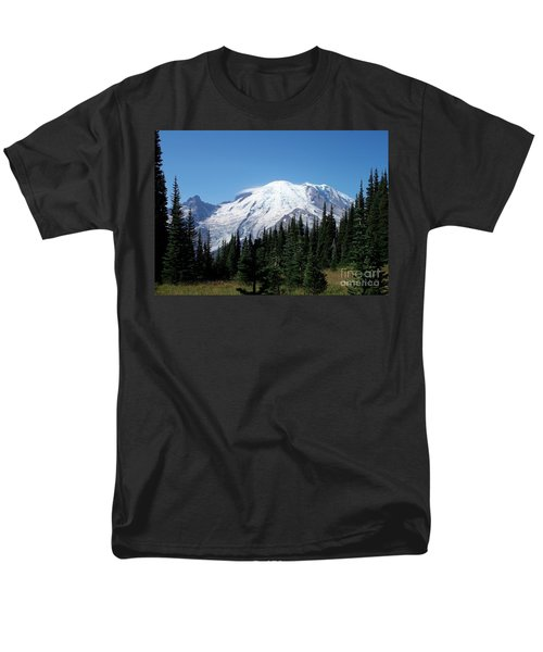 Men's T-Shirt  (Regular Fit) featuring the photograph Mt. Rainier In August by Chalet Roome-Rigdon