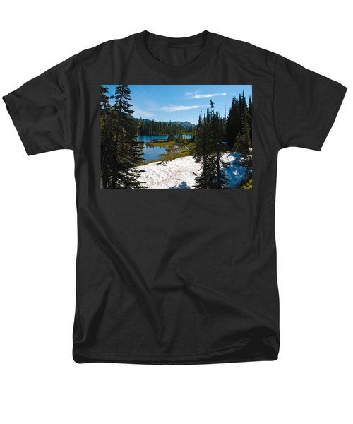 Men's T-Shirt  (Regular Fit) featuring the photograph Mt. Rainier Wilderness by Tikvah's Hope