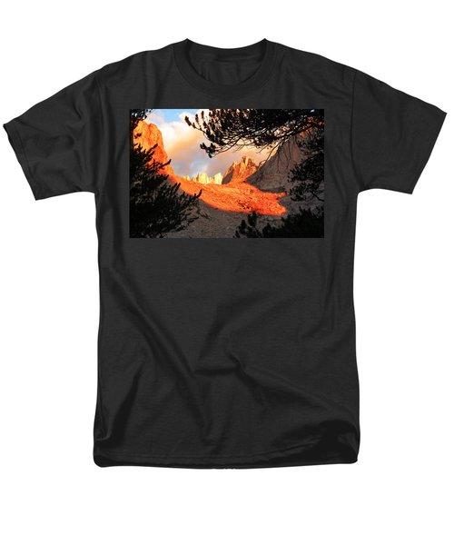 Men's T-Shirt  (Regular Fit) featuring the photograph Mt. Whitney Sunrise by Alan Socolik