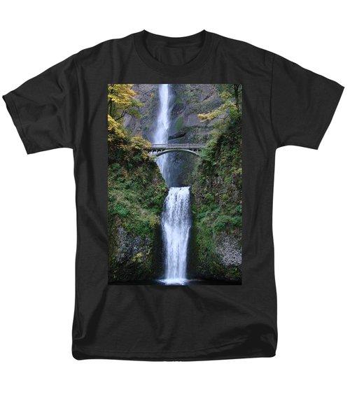 Men's T-Shirt  (Regular Fit) featuring the photograph Multnomah Falls by Athena Mckinzie