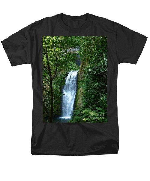 Multnomah Falls Bridge 2 Men's T-Shirt  (Regular Fit) by Susan Garren