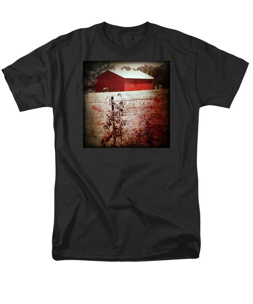 Murder In The Red Barn Men's T-Shirt  (Regular Fit) by Trish Mistric
