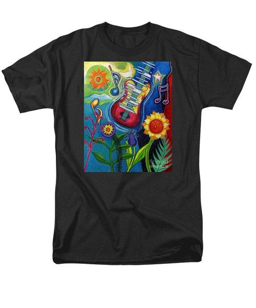Music On Flowers Men's T-Shirt  (Regular Fit)