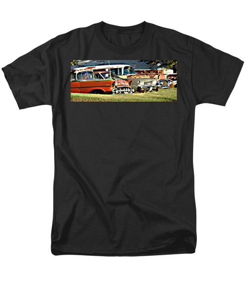 Men's T-Shirt  (Regular Fit) featuring the digital art My Cars by Cathy Anderson