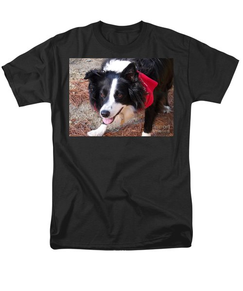 Men's T-Shirt  (Regular Fit) featuring the photograph Female Border Collie by Eunice Miller