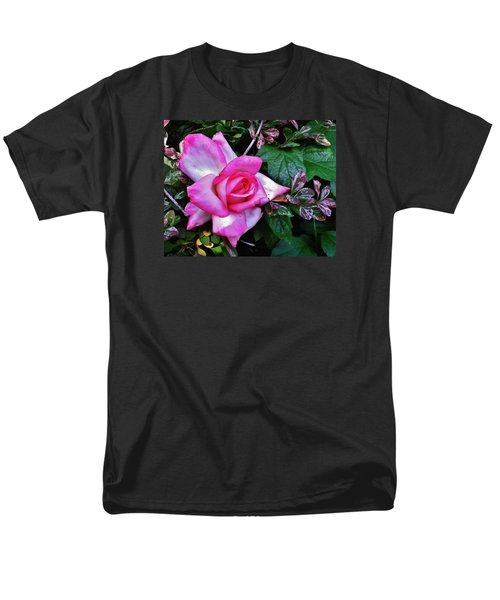 Men's T-Shirt  (Regular Fit) featuring the photograph My Perfect Tea Rose by VLee Watson