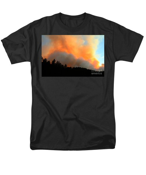 Men's T-Shirt  (Regular Fit) featuring the photograph Myrtle Fire Near Rifle Pit Road by Bill Gabbert