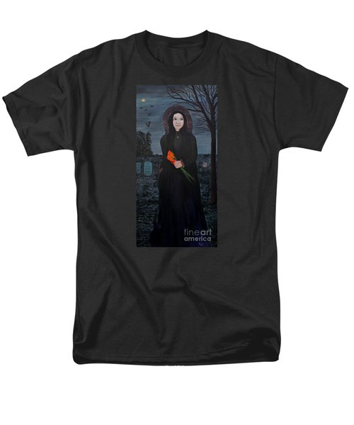 Men's T-Shirt  (Regular Fit) featuring the painting Mystery by Myrna Walsh