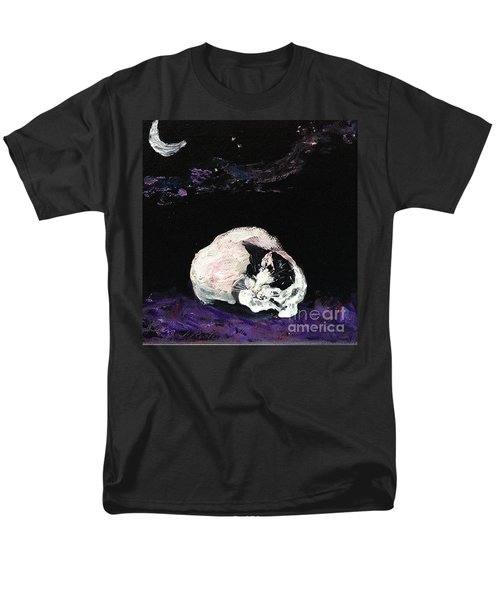 Men's T-Shirt  (Regular Fit) featuring the painting Mystic Cat Nap  by Reina Resto