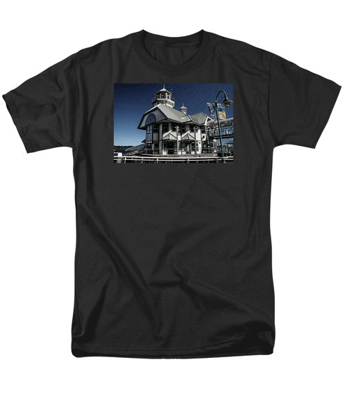 Men's T-Shirt  (Regular Fit) featuring the digital art Nanaimo Bistro by Richard Farrington