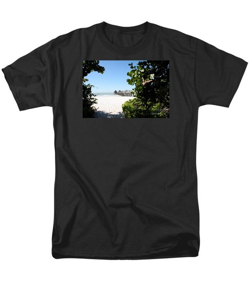 Naples Pier View Men's T-Shirt  (Regular Fit) by Christiane Schulze Art And Photography