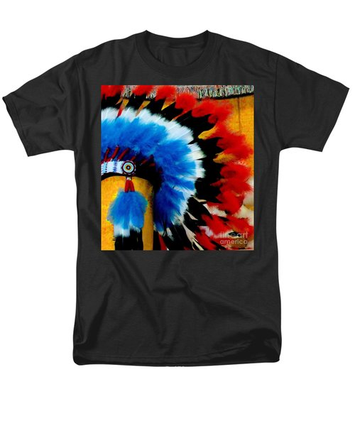 Men's T-Shirt  (Regular Fit) featuring the photograph Native American Headdress by Janette Boyd