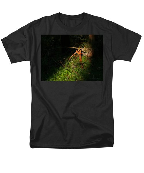 Men's T-Shirt  (Regular Fit) featuring the photograph Natural Bands 2 by Evelyn Tambour