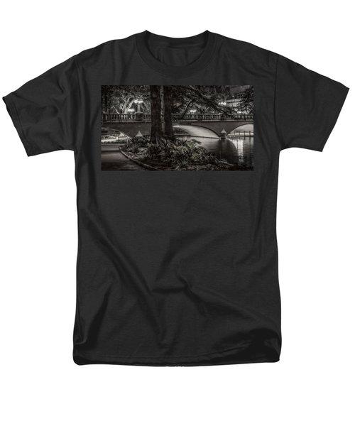 Men's T-Shirt  (Regular Fit) featuring the photograph Navarro Street Bridge At Night by Steven Sparks