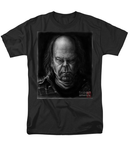 Neil Young Men's T-Shirt  (Regular Fit) by Andre Koekemoer