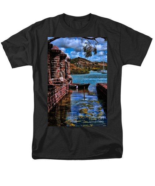 Nelson's Dockyard Antigua Men's T-Shirt  (Regular Fit) by Tom Prendergast