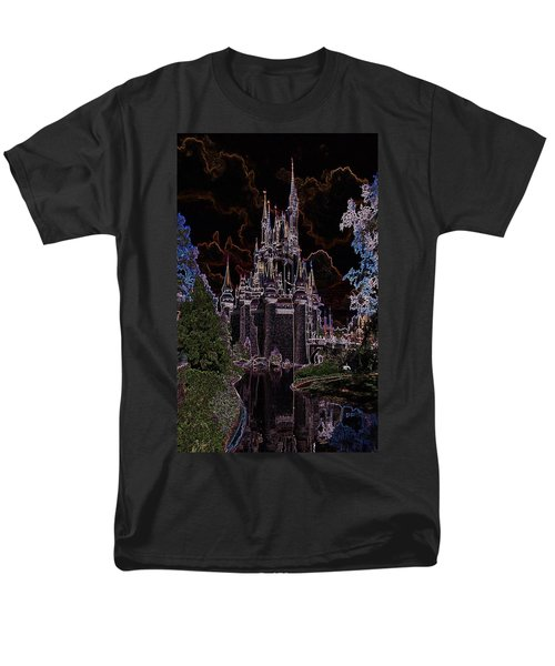 Neon Castle Men's T-Shirt  (Regular Fit) by Eric Liller