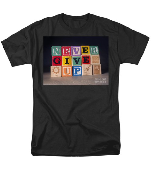 Never Give Up Men's T-Shirt  (Regular Fit) by Art Whitton