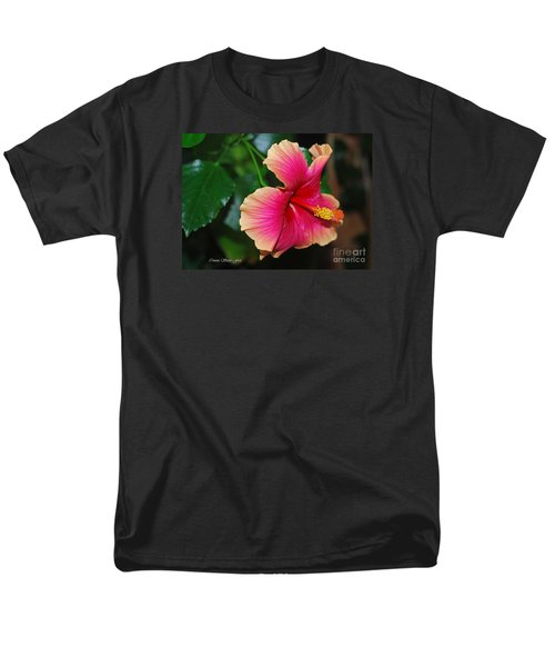 New Every Morning - Hibiscus Men's T-Shirt  (Regular Fit) by Connie Fox