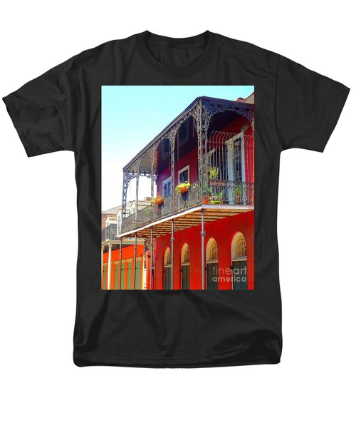 New Orleans French Quarter Architecture 2 Men's T-Shirt  (Regular Fit) by Saundra Myles