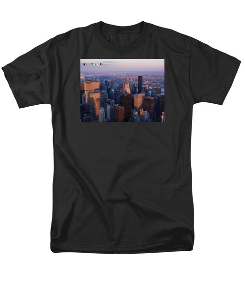 Men's T-Shirt  (Regular Fit) featuring the photograph New York City At Dusk by Emmy Marie Vickers