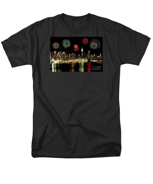 New York City Fourth Of July Men's T-Shirt  (Regular Fit) by Anthony Sacco