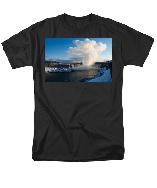 Niagara Falls Makes Its Own Weather Men's T-Shirt  (Regular Fit) by Georgia Mizuleva
