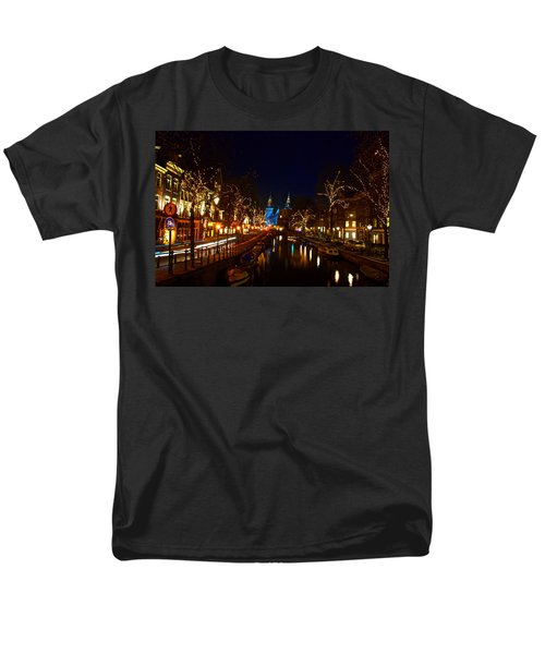 Men's T-Shirt  (Regular Fit) featuring the photograph Nieuwe Spieglestraat At Night by Jonah  Anderson