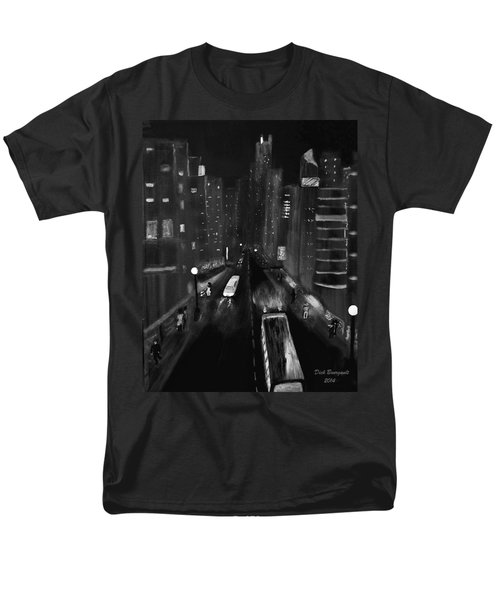 Night City Scape Men's T-Shirt  (Regular Fit) by Dick Bourgault