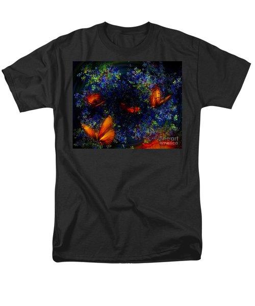 Men's T-Shirt  (Regular Fit) featuring the digital art Night Of The Butterflies by Olga Hamilton