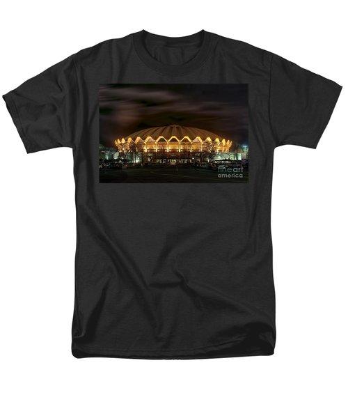 night WVU basketball Coliseum arena in Men's T-Shirt  (Regular Fit) by Dan Friend