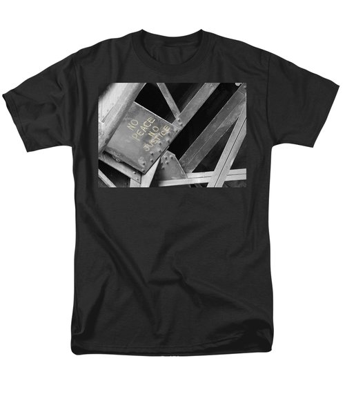Men's T-Shirt  (Regular Fit) featuring the photograph No Peace No Justice by Patricia Babbitt