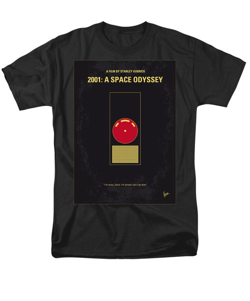 No003 My 2001 A Space Odyssey 2000 Minimal Movie Poster Men's T-Shirt  (Regular Fit)