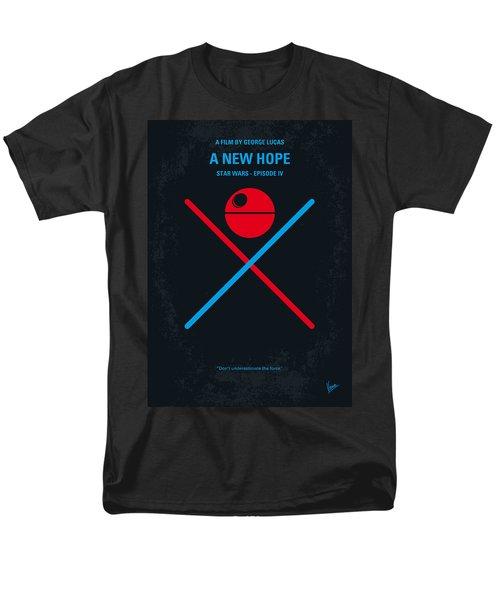 No154 My Star Wars Episode Iv A New Hope Minimal Movie Poster Men's T-Shirt  (Regular Fit)