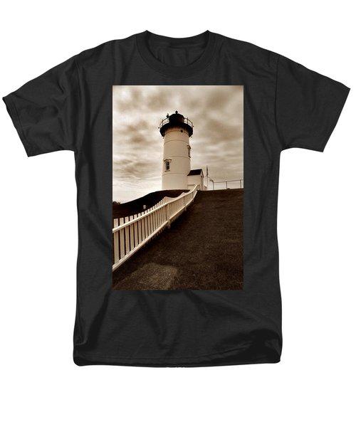 Nobska Lighthouse Men's T-Shirt  (Regular Fit) by Skip Willits