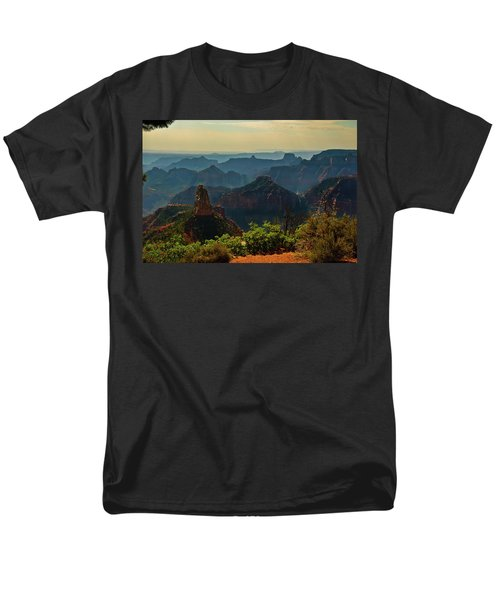 Men's T-Shirt  (Regular Fit) featuring the photograph North Rim Grand Canyon Imperial Point by Bob and Nadine Johnston